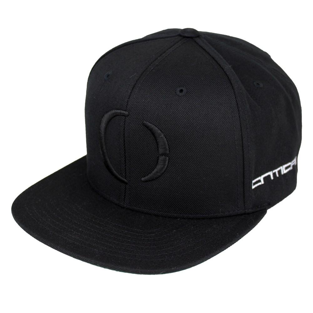 critical black stealth logo snapback
